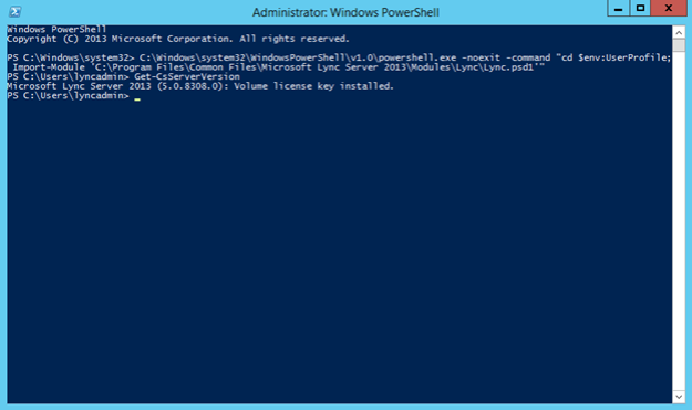 Lync Server 2013 Management Shell in not working on Windows