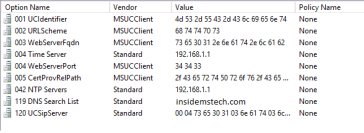 Configure DHCP Server options for Lync Phones | InsideMSTech