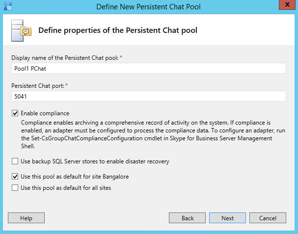 Step by step Persistent Chat pool deployment: Skype for Business ...